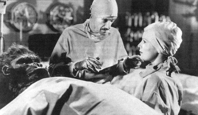 John Carradine and Fay Helm as Nurse Strand.