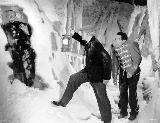 A frozen monster, a Karloff and a Naish.