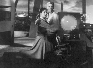 Andrea King and Peter Graves.