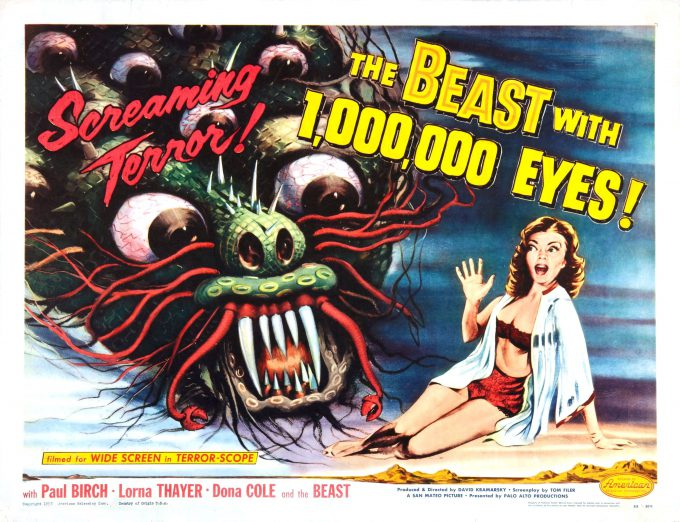This was the poster that exhibitors saw, naturally expecting the monster to show up on film.